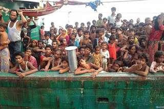 Innalillahi, Ditolak Pemerintah Malaysia Kapal Pengungsi Rohingya Dengan 350 Penumpang Hilang