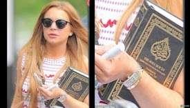 Lindsya Lohan Terlihat Membawa Al Quran, Apakah Masuk Islam?
