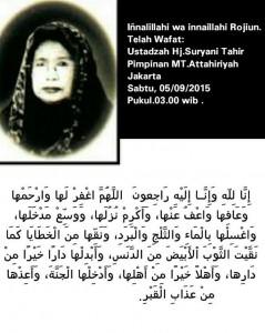 DR Hj Suryani Tahir-Ustazah-pelopor-majelis-taklim-Jakarta-meninggal-dunia