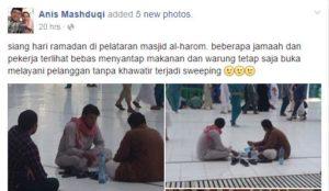 Status-Menyebut-di-Masjidil-Haram-Bebas-Makan-Minum-Selama-Ramadhan-Menyesatkan